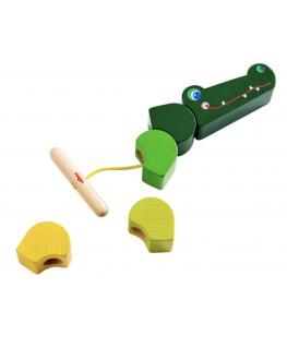 Rijgspel Krokodil +2j - Haba