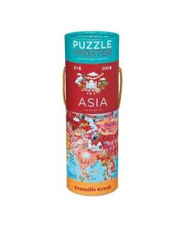 Puzzel en poster Asia +6j - Crocodile Creek