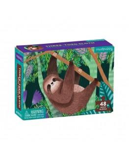Mini Puzzel three-Toed Sloth +4j - Mudpuppy
