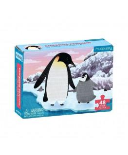 Mini puzzel emperor penguin +4j - Mudpuppy