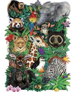 Cobble Hill family puzzle 350 pieces - Safari Babies