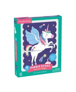 Puzzel sticks Unicorn Magic 3-6j - Mudpuppy