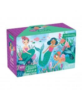 Glitter puzzel mermaids +5j - Mudpuppy
