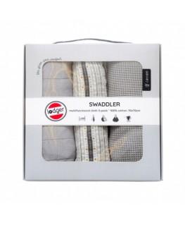 Swaddler Empire Stripe 3-pack Mist - Lodger