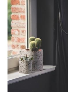 Fifty FLOWER POT SMALL | terrazzo light - Atelier Pierre