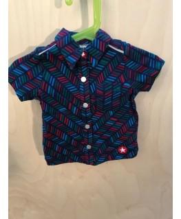 Donkerblauw hemdje met print - Kik*Kid