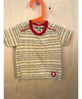 T-shirt stripe dots light yellow black baby - Kik*Kid