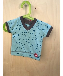 Lichtblauw t-shirt met spons - Kik*Kid