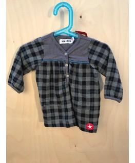 Grijs/Zwart kleedje - Kik*Kid