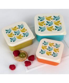 LOVE BIRDS SNACK BOXES (SET OF 3) Love birds snack boxes - set van 3 - Rex