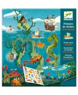 Stickerverhalen. Avonturen op zee. 4-8j - Djeco