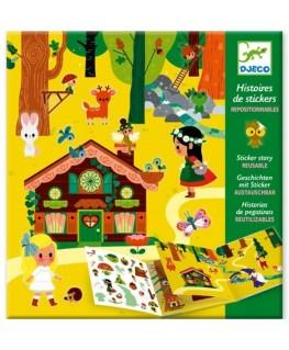 Stickerverhalen toverbos 4-8j - Djeco