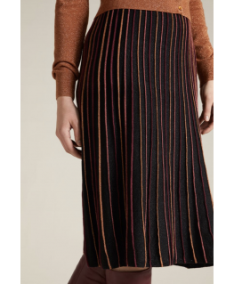 Pintuck Skirt Lapis - King Louie
