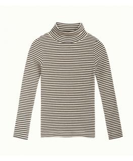 Rollneck Top Tweedy Stripe - Petit Louie