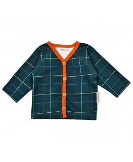 Raglan shirt Checked blue - ba*ba babywear