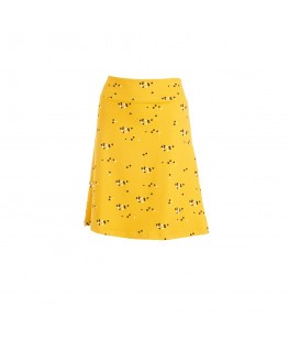 SKIRT LONG DOTS MUSTARD SWEATER COTTON - Froy & Find