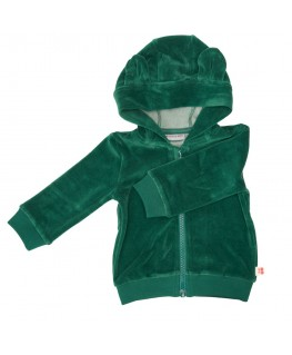 HOODIE BALOU EVERGREEN VELOURS - Froy & Find