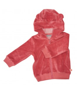 HOODIE BALOU OLD ROSE VELOURS - Froy & Find
