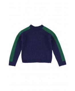 Hoodie bicolor green piqué - Ba*Ba Babywear