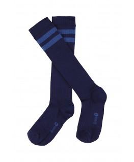 JORDAN STRIPE striped knee socks patriot blue - Lily Balou