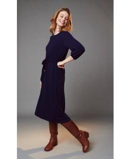 GIORGIA dress with belt patriot blue - Lily Balou