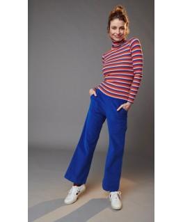 Pyjama donkerblauw oker gestreept dodo - Woody