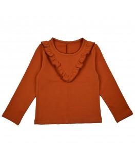 Ruffle shirt herfstbruin - ba*ba babywear