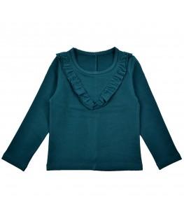 Ruffle shirt blauw - ba*ba babywear