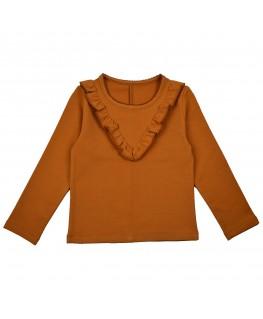 Ruffle shirt oker - ba*ba babywear