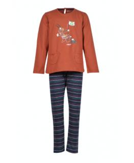 Girls-Women pyjamas, rust - Woody