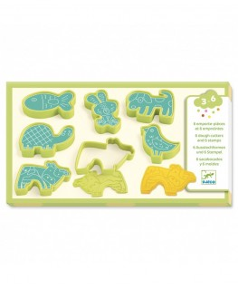 6 cookie cutters and 6 stamps pet animals 3-6j - Djeco