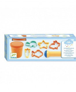 8 cookie cutters and 1 rolling pin +18m - Djeco
