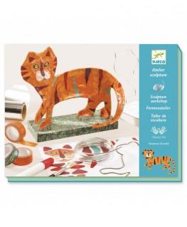 Sculptuur workshop. De tijger 8-14j - Djeco