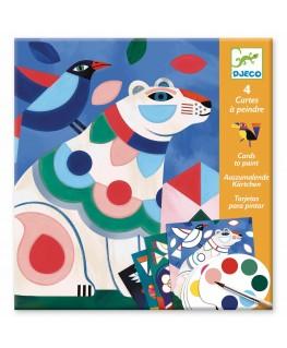 Kaarten om te beschilderen 6-9j  - Beestenboel - Djeco