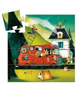Puzzel The fire truck 16pcs +3j - Djeco