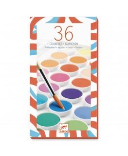 36 color cakes +6j - Djeco