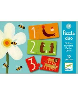 Numbers puzzel duo +3j - Djeco