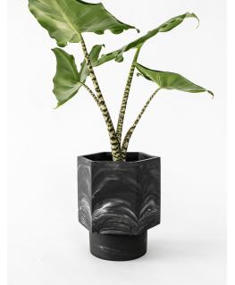 Hapi Zelfwatergevende black marble Pot 12 cm - House Raccoon