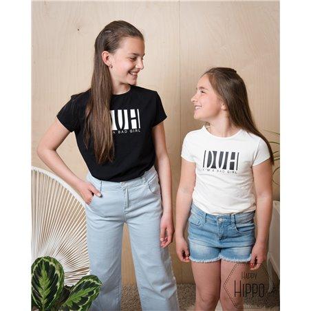 T-shirt V-neck Blue Dotted Stripe - Little Label