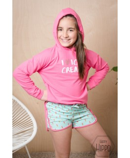 Hoodie Olala Bright Fluo Pink - Someone