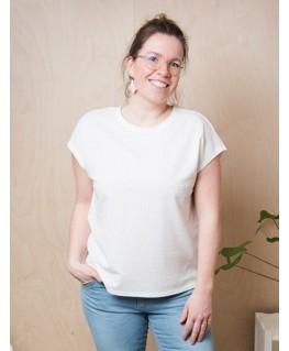 T-shirt wit biscuits - Vila Joy