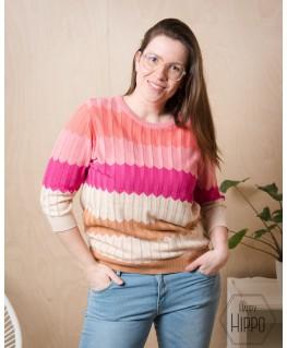 Knitted top brownies - Vila Joy