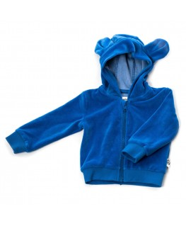 Hoodie Balou blue velour - Onnolulu