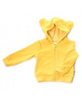 Hoodie balou Yellow Velour - Onnolulu
