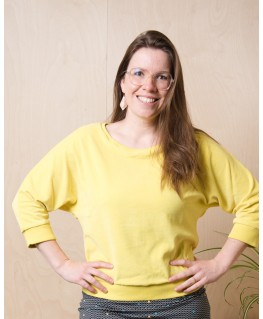sweater sybille yellow velours - Froy & Dind