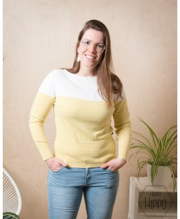 Sweater mina white-sulmher - Froy & Dind