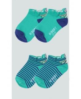 Duo Pack groene sokken Octopus - Woody maten 23 tot 34