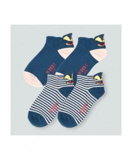 Duo Pack blauwe sokken Zeemeeuw - Woody maten 23 tot 34