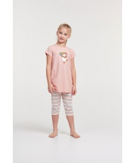 Meisjes pyjama roze Ringo cavia - Woody
