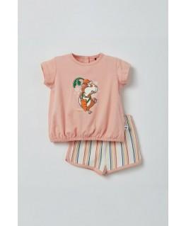 Meisjes pyjama roze cavia - Woody